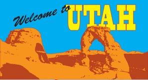 Montaña de la bandera en Utah ilustración del vector