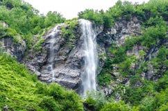Montaña de la cascada Fotografía de archivo