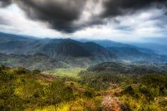 Montaña de la central de Cordillera Fotografía de archivo