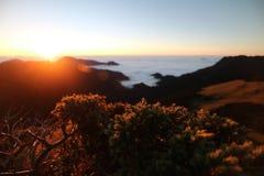 Montaña de la colina de Chillai en Taiwán Imagenes de archivo