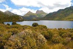 Montaña de la horquilla en Tasmania fotos de archivo libres de regalías