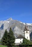 Montaña de la iglesia y de Wetterhorn, Suiza Imagen de archivo
