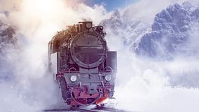 Montaña de la locomotora de vapor Fotos de archivo