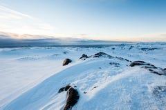 Montaña de la nieve Fotografía de archivo
