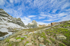 Montaña de la nieve imágenes de archivo libres de regalías