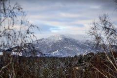 Montaña de la nieve Fotografía de archivo libre de regalías
