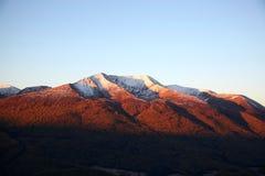 Montaña de la nieve Imagen de archivo