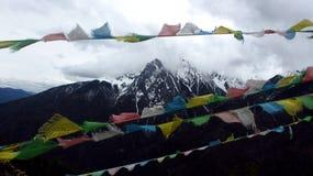 Montaña de la nieve de Meili Foto de archivo libre de regalías
