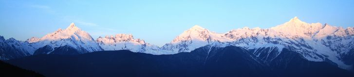 Montaña de la nieve de Meili (príncipe Snow Mountain) Imagen de archivo