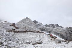 Montaña de la nieve de Yulong en Tíbet Foto de archivo libre de regalías