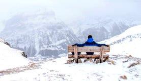 Montaña de la nieve en Suiza Fotografía de archivo