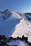 Montaña de la noche - Tatras en el invierno Fotografía de archivo libre de regalías