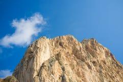 Montaña de la piedra caliza Foto de archivo libre de regalías