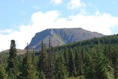 Montaña de la tapa plana Fotografía de archivo