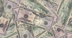 Montaña de las cuentas de cincuenta dólares de americanos, dinero del efectivo ilustración del vector