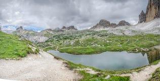 Montaña de Lavaredo Fotos de archivo