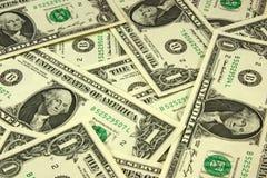 Montaña de los billetes de banco del uno-dólar Imagenes de archivo