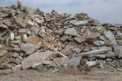 Montaña de los escombros fotos de archivo libres de regalías