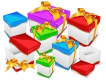 Montaña de los rectángulos de regalo Imagenes de archivo