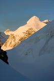 Montaña de Lyskamm en la puesta del sol Imagen de archivo libre de regalías