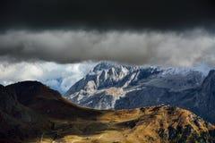 Montaña de Marmolada fotografía de archivo libre de regalías