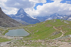 Montaña de Matterhorn. Imagen de archivo libre de regalías