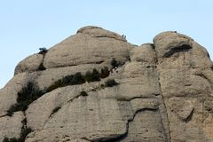 Montaña de Montserrat Foto de archivo libre de regalías