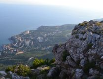 Montaña de Mshatka sobre Foros, Crimea foto de archivo