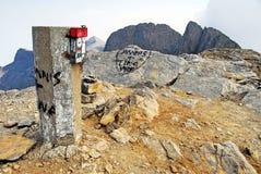 Montaña de Olympus, en la cima de la cumbre de Skolio fotografía de archivo