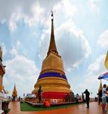 Montaña de oro de Wat Saket Temple Imagen de archivo libre de regalías