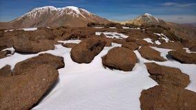 Montaña de Picavilque - Chile Imagen de archivo