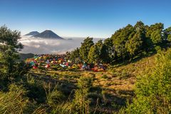 Montaña de Prau fotografía de archivo libre de regalías