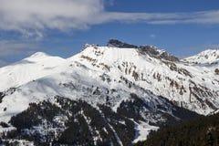 Montaña de Rastkogel en Austria, 2015 Imagen de archivo libre de regalías