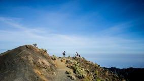 Montaña de Rinjani en Indonesia Foto de archivo libre de regalías