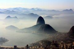 Montaña de Rio De Janeiro With Sugar Loaf Imagenes de archivo