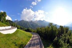 Montaña de Rosa Khutor fotografía de archivo libre de regalías