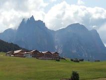 Montaña de Sciliar en el Sud el Tyrol fotografía de archivo libre de regalías