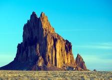 Montaña de Shiprock, New México Imagen de archivo libre de regalías