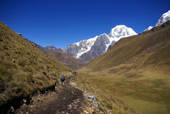 Montaña de Siula fotografía de archivo libre de regalías