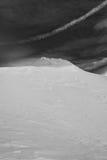 Montaña de Snowscape Imagenes de archivo