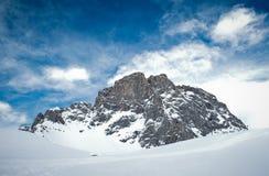 Montaña de Sulzfluh en las montan@as suizas en invierno Fotografía de archivo libre de regalías