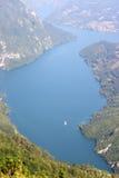 Montaña de Tara del barranco del río de Drina Imagen de archivo