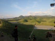Montaña de Teletubbies foto de archivo