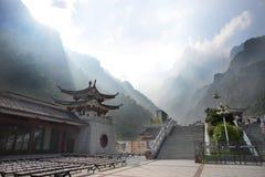 Montaña de Tianmen en Zhangjiajie, China Imágenes de archivo libres de regalías