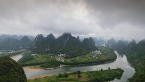 Montaña de Timelapse Xianggong, Xingping, China almacen de video