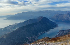 Montaña de Vrmac. Montenegro Fotografía de archivo