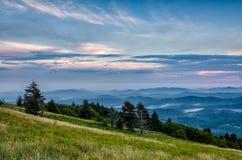 Montaña de Whitetop, Virginia imágenes de archivo libres de regalías