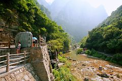 Montaña de Yuntai foto de archivo libre de regalías