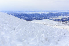 Montaña de Zao Onsen Foto de archivo libre de regalías