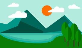 Montaña del azul del fondo ilustración del vector